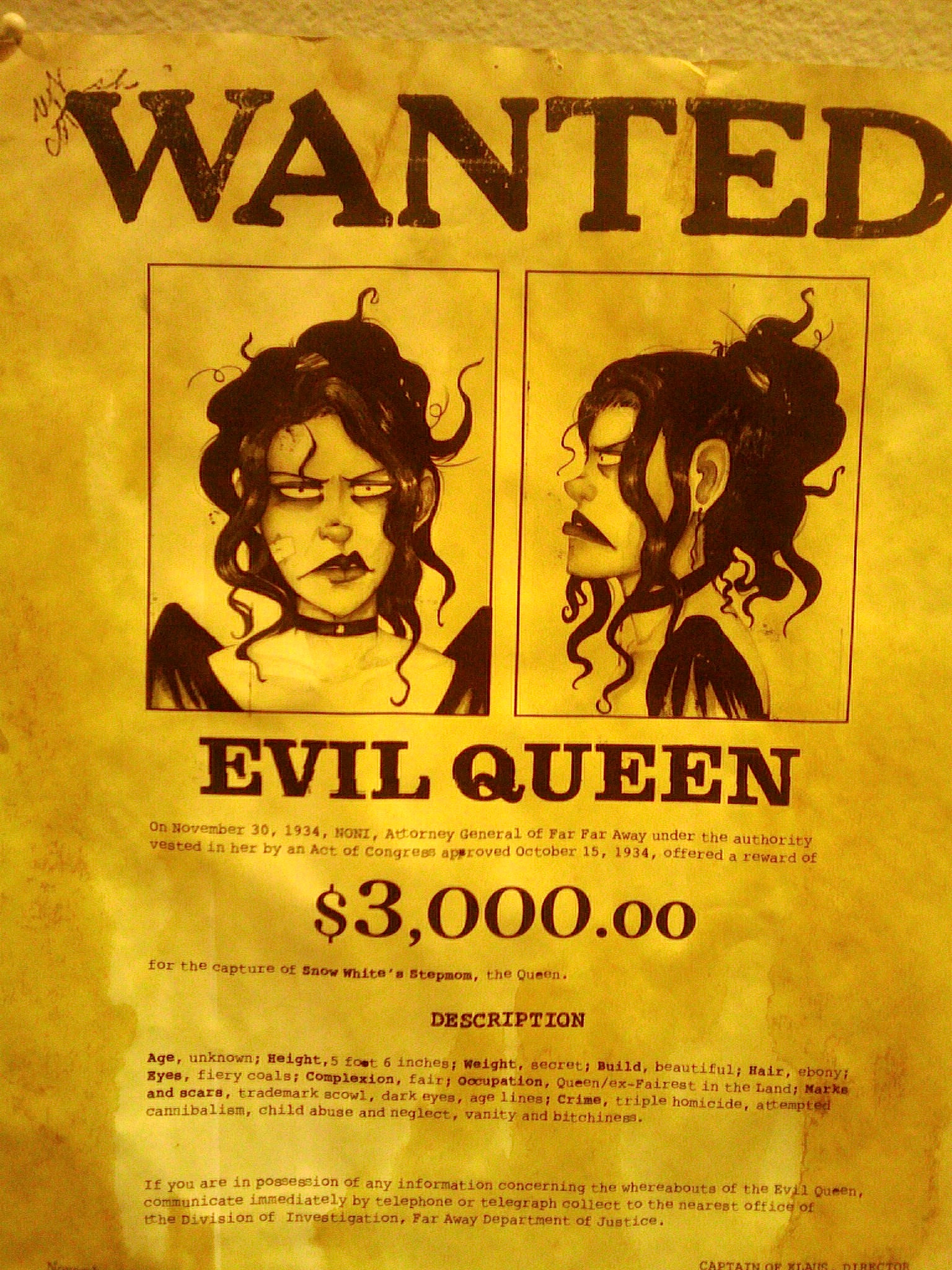 Wanted Posters For Fairy Tale Characters Smart Movie Player E75
