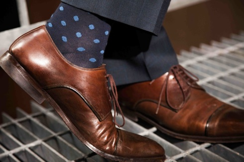 How to wear power socks with your power suit