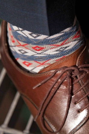 These Fair Isle-inspired socks match the traditional spirit of the winter months with a fun display of personal style for the outdoor man to the executive, as well as the Renaissance man who's both a country boy and city gentleman.