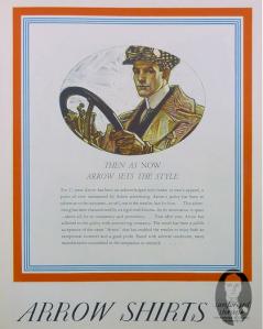 1931 Arrow Adver - Reverse Collar Style
